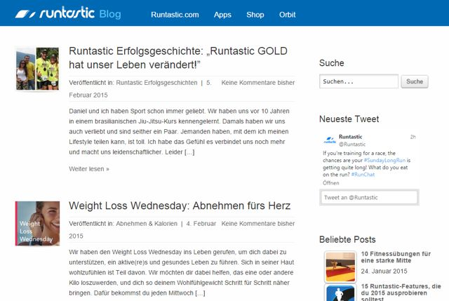Runtastic-Blog